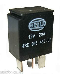 vehicle mini micro relay 12v 20a changer hella 4rd 965 453 01 briefversand ebay