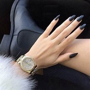 14 Black Pointy Nail Designs Tumblr Images - Pointy Nail ...