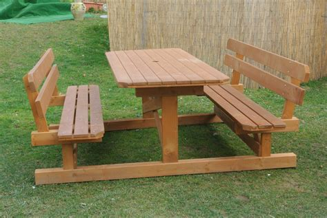 panchine in legno da giardino tavoli in legno per giardino con panche tavolo da