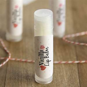 homemade vanilla lip balm With diy lip balm labels