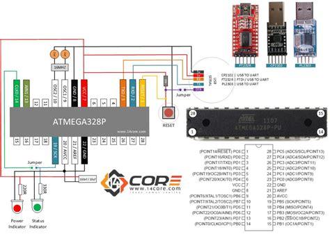 Wiring Stand Alone Atmegap Cmos Bit Microcontroller