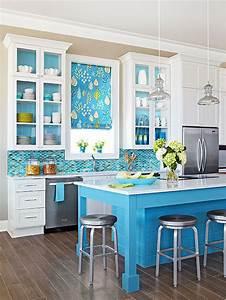 blue backsplash With kitchen back splashes with blue