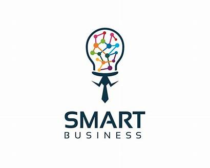 Smart Business Bulb Vector Icon Corporate Template