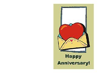 happy anniversary cards word templates