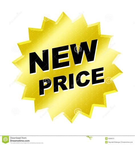 Price Of New new price sign stock illustration illustration of annonce