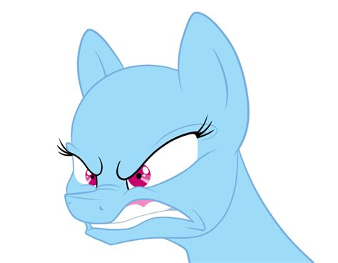 Angry Pony Base By Luminousdazzle On Deviantart