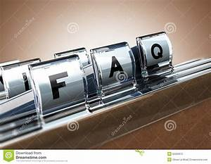 FAQ stock illustration. Illustration of list, answers ...