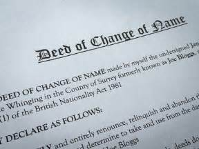 deed poll name change letter template image collections