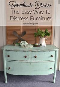how to distress painted furniture Farmhouse Dresser: The Easy Way To Distress Furniture - My ...