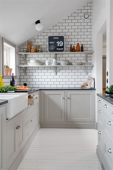 Decordots Kitchen Inspiration  White Tiles + Black Grout