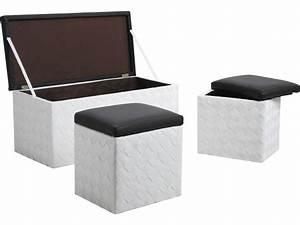 Banc Coffre A Jouet : banc coffre 2 coffres poufs en corde lot de 3 ~ Teatrodelosmanantiales.com Idées de Décoration