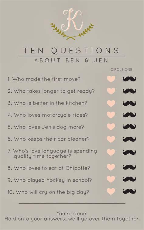 wedding shower questions 10 bridal shower and ideas eweddingfavors