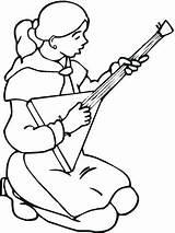 Balalaika Coloring Playing Trombone Russian Pages Boy Drawing Violin Play Printable Getdrawings Categories sketch template