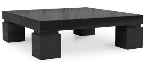 table basse carr 233 e laqu 233 e noir kare lestendances fr