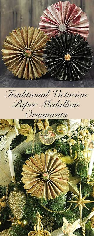 traditional victorian folded paper ornaments