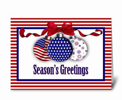 Patriotic Ornaments Greeting Card Cards Send Personalize