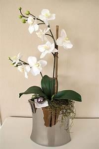 Große Vase Silber : gro e vase silber edel gesteck orchidee wei 56 cm jardiniere silbervase ebay ~ Buech-reservation.com Haus und Dekorationen