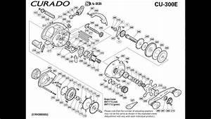 Shimano Curado Cu300e Manual Despiece  Catalog Parts Reel