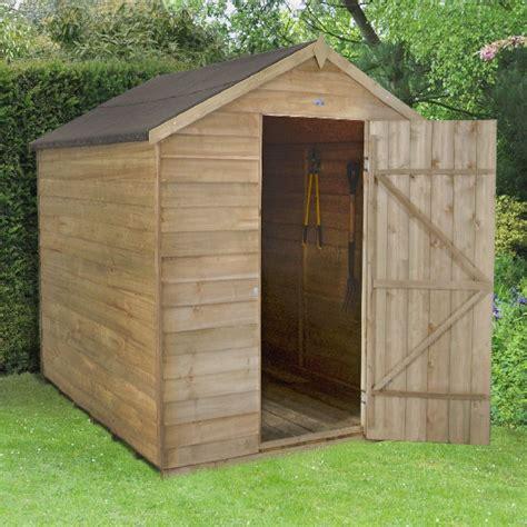 Garden Shed 8x6 Best Price by Forest Overlap Pt Apex Garden Shed No Windows 8x6 Elbec