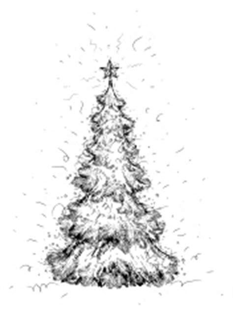 pencil drawings christmas trees pencil drawing of a tree stock photos freeimages