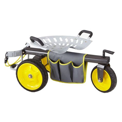 garden scooter seat gorilla carts rolling garden scooter gor rgc the home depot
