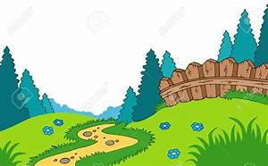 Scenery clipart country landscape - Pencil and in color ...