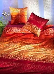 Bettwäsche Orange Rot : satin bettw sche kantipur ~ Markanthonyermac.com Haus und Dekorationen