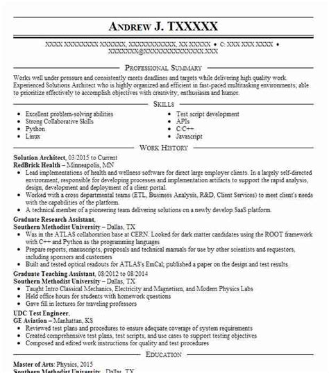 Sle Solution Architect Resume by Solution Architect Objectives Resume Objective Livecareer