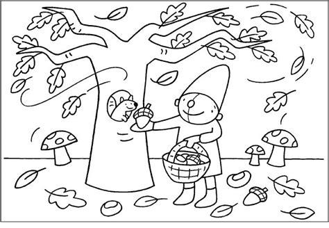 Kleurplaat Pompom Lente by Kleurplaat Pompom Herfst Thema Herfst