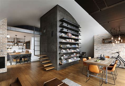 custom reconstructed attic loft apartment  hipster