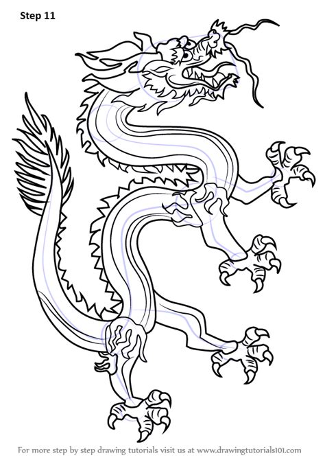 learn   draw  chinese dragon dragons step  step