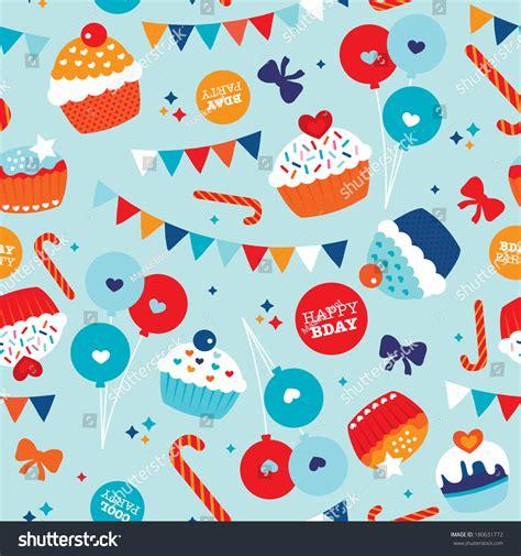 seamless happy birthday balloon cake and decoration