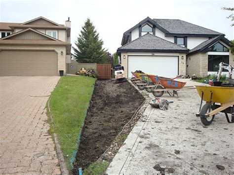 regrading backyard regrading to improve drainage from back yard the lawn salon