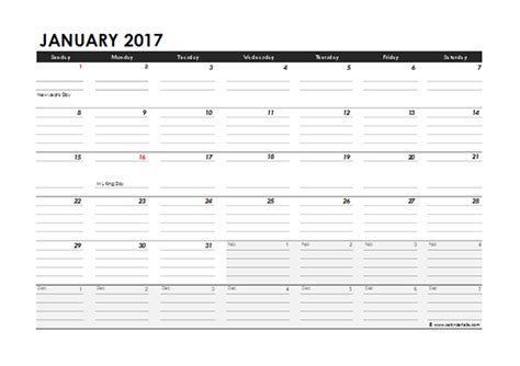 2017 calendar template excel 2017 monthly calendar excel template free printable templates