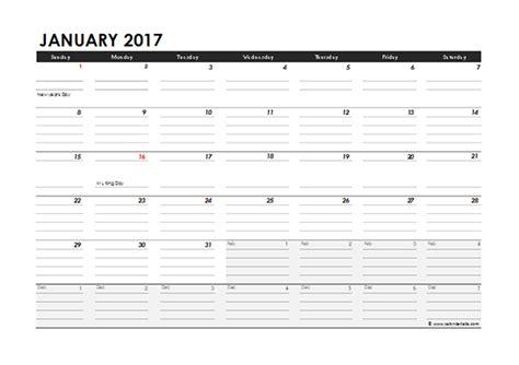 excel 2017 calendar template 2017 monthly calendar excel template free printable templates