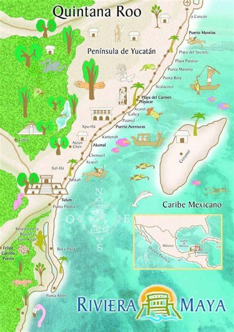 map mappa riviera maya quintana roo tulum