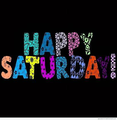 Saturday Happy Morning Colorful Text Clipart Quotes