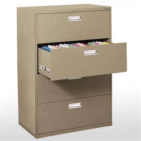 Sandusky Metal File Cabinets by Sandusky 600 Series Lateral File Steel Cabinet 4 Drawer By