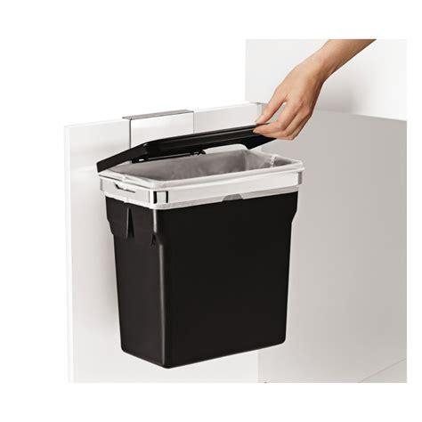 simplehuman afvalbak in cabinet bin 10 liter zwart chroom