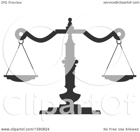 Clipart of Dark Gray Scales of Justice - Royalty Free ...