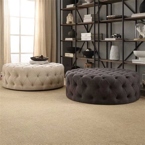 Best 25  Tufted ottoman ideas on Pinterest   Tufted ottoman coffee table, Ottomans and Padded