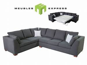 Sofa Sectionnel 6 Places Avec Lit Double Possibilit De