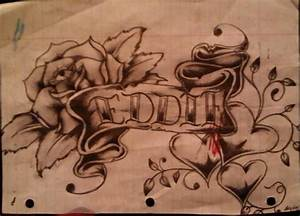 Banner and rose tattoo by los19 on DeviantArt