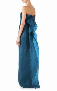 roland mouret henderson gown in blue lyst With robe roland mouret