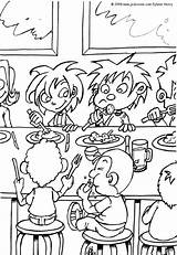 Lunch Coloring sketch template