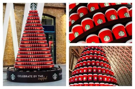 coffee cup christmas trees starbucks christmas tree