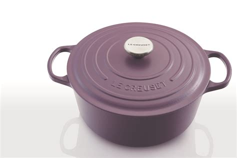 creuset le matte amethyst cookware collection purple housewares expands introduction midnight kitchenware grey kitchenwarenews