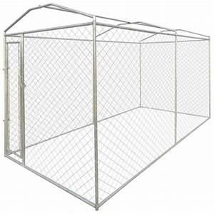 Chenil Extérieur Pour Chien : niches pour chiens chenil exterieur pour chien avec toit en bache 200 x 400 x 235 cm achat ~ Melissatoandfro.com Idées de Décoration