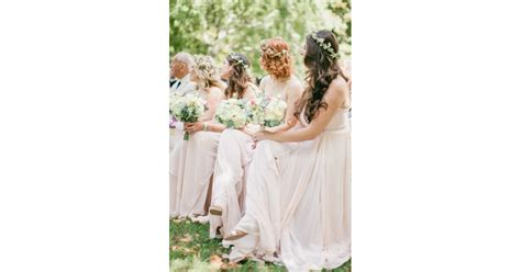 Adorned Bridesmaids Wedding Hair With Flowers Popsugar
