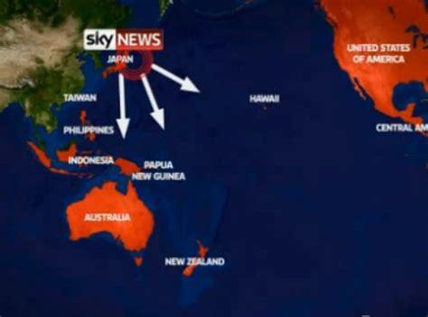 si鑒e social nord emergenza tsunami anche hawaii e nord america si preparano al peggio